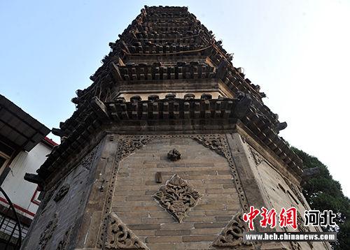 明代古塔――五印浮图塔。 韩冰 摄
