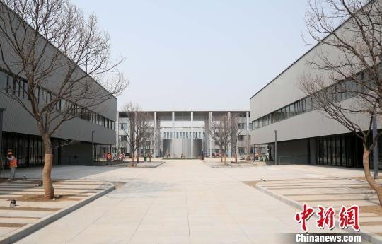 """图为""""雄安基建第一标""""――雄安市民服务中心项目。 韩冰 摄"""