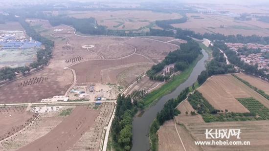 占地700亩的运河公园。李秀岭 摄