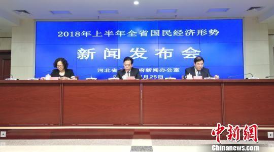 2018年上半年河北省国民经济形势新闻发布会现场 房现玉 摄