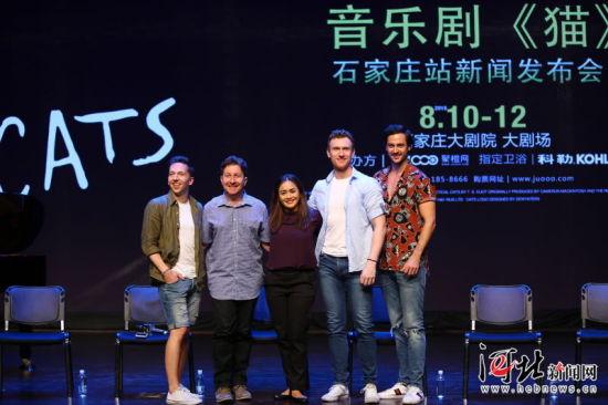8月9日,伦敦西区原版世界经典音乐剧《猫》举行2018中国巡演石家庄站新闻发布会。 石家庄大剧院供图