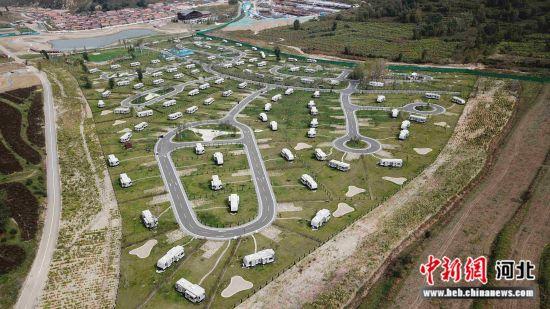 横山湖露营地。 灵寿县委宣传部供图