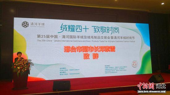第二十五届中国•清河国际羊绒及绒毛制品交易会暨首届清河羊绒时尚节现场。张鹏翔摄