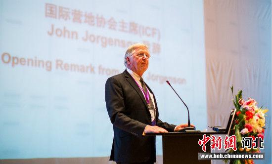 国际营地协会主席John Jorgenson致辞。 主办方供图