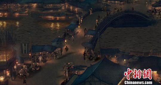 文化展夜景布局 河北省对外文化交流中心 摄