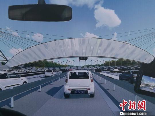 图为新机场北线高速公路廊坊段规划效果图。资料图