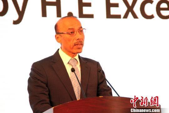 卡塔尔驻华大使苏尔坦?曼苏里现场致辞。 于俊亮 摄