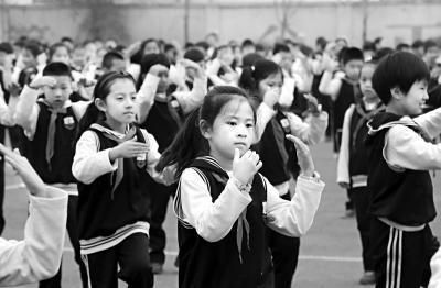 北京市朝阳区实验小学雄安校区,是北京市教育援助的首批4所学校之一,目前在校学生1950人。本报记者 戴冰摄