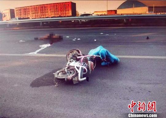 案发事故现场。清河县交警大队供图
