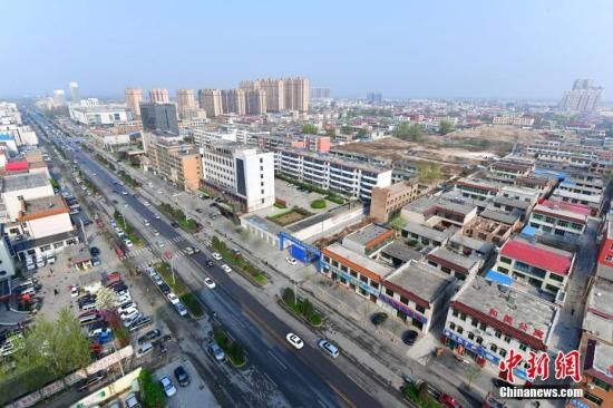 资料图:从高空俯瞰河北容城。 中新社记者 翟羽佳 摄