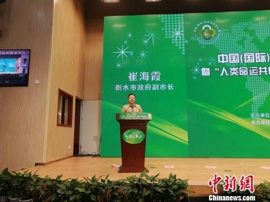 衡水市政府副市长崔海霞致辞。 王鹏 摄