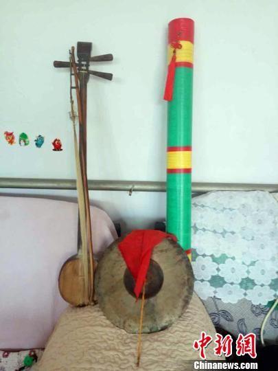 清河道腔的演奏乐器。 孙瑞超 摄