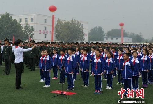 资料图:雄安新区容城县容城中学。中新社记者 韩冰 摄