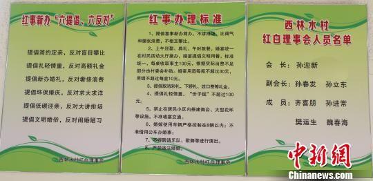 西林水村的红事办理标准。 徐巧明 摄