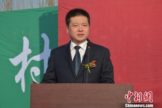 饶阳县委常委、农工委书记张钰致辞。 王鹏 摄