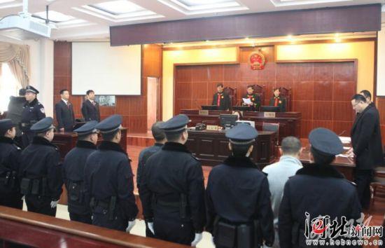 衡水市安平县人民法院审理现场。 省法院供图