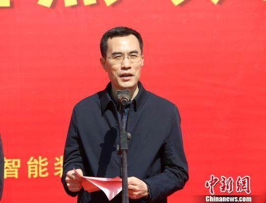 衡水高新区管委会主任姚幸福讲话。 王鹏 摄