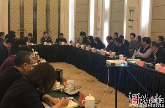 3月8日,河北省渤海地区入海排污口排查整治试点工作座谈会在唐山召开。图为座谈会现场。 河北省生态环境厅供图