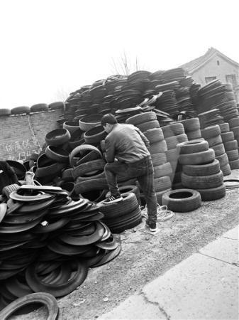 """""""轮胎超市""""内有各种旧轮胎超过3万条"""