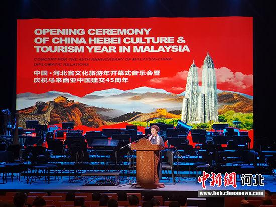 河北省文化和旅游厅副厅长王荣丽致辞。 李阳 摄