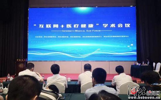 """6月1日,首届河北省健康高层论坛""""互联网+医疗健康""""峰会在石家庄举行。图为论坛现场。记者张淑会摄"""