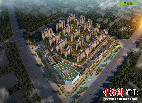 红星美凯龙馆陶商业中心鸟瞰图。 馆陶县委宣传部供图