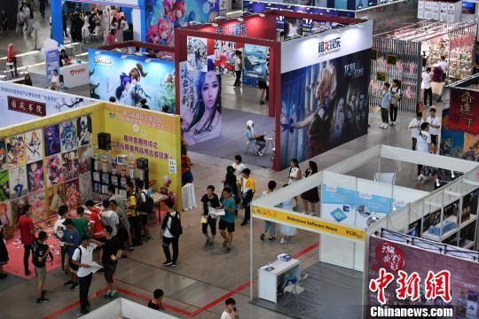 图为第二届国际动漫游戏产业博览会暨动漫河北展厅现场。 翟羽佳 摄