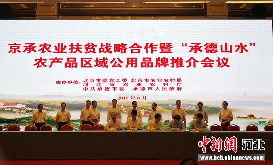 京承农业扶贫战略合作会议现场。 张桂芹 摄