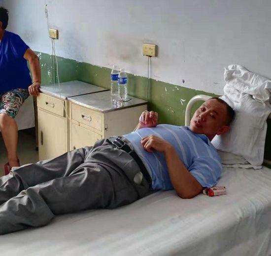 李志敏目前在当地一家卫生院就医。 受访者供图