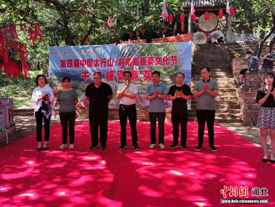 第四届中国・太行山前南峪板栗文化节揭幕。 张鹏翔 摄