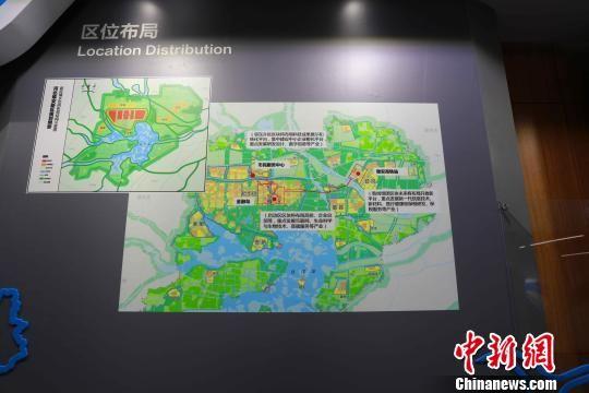 图为河北自贸试验区雄安片区区位布局。 崔涛 摄