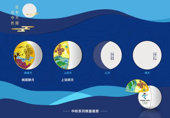 中秋系列限量徽章。 北京冬奥组委供图