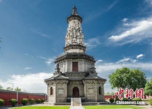 广惠寺华塔坐落在河北正定县城内。1933年,梁思成曾对该塔进行调查。河北省委对外宣传局供图