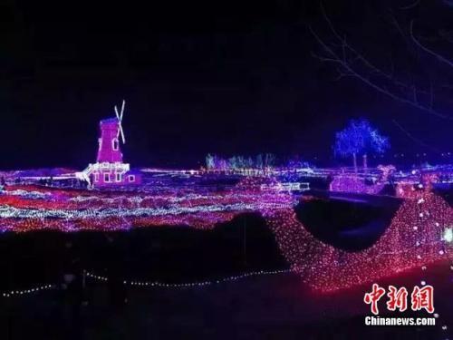 古城正定夜景。正定县委宣传部供图