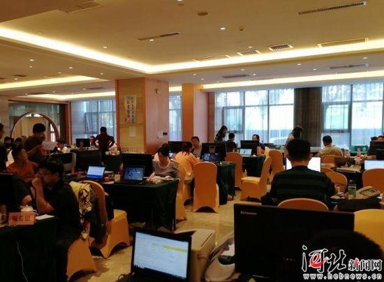 9月30日,2019中国国际数字经济博览会筹备组筹备组办公现场。 记者米彦泽摄