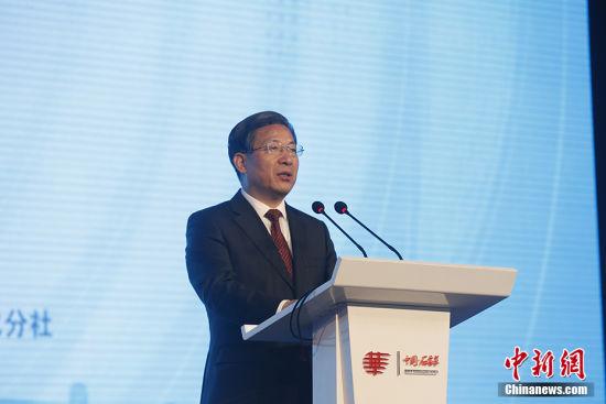 河北省委书记王东峰出席第十届世界华文传媒论坛开幕式并致辞。韩海丹 摄