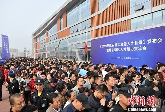 10月19日,河北雄安新区正式发布《2019年雄安新区急需人才目录》,同时举办雄安新区人才智力交流会。 中新社记者 韩冰 摄