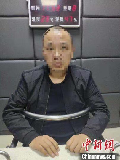 图为犯罪嫌疑人接受审讯。河北省公安厅供图