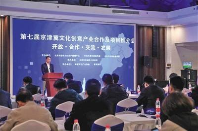 北京市国有文化资产管理中心领导在会上发言。
