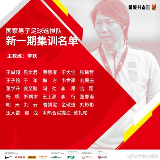 国足新一期集训名单。图片来源:中国足球队官方微博