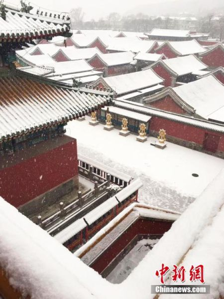 图为俯拍普宁寺。张桂芹 摄