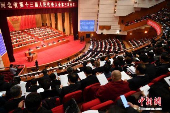 1月7日,河北省第十三届人民代表大会第三次会议在石家庄开幕。 中新社记者 翟羽佳 摄