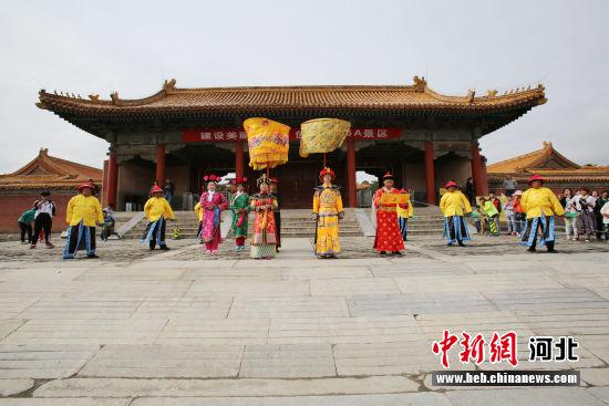 清西陵景区内举行的祭祀大典。 于正万 摄