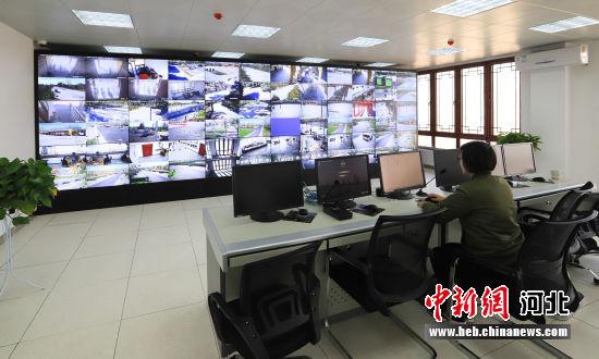 清西陵景区智慧旅游监测中心。 许立 摄