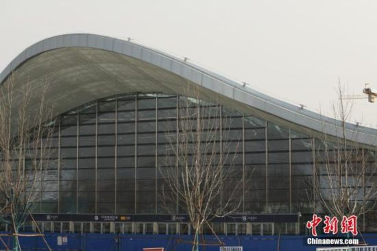 3月18日,北京地铁环球度假区站。 中新社记者 蒋启明 摄
