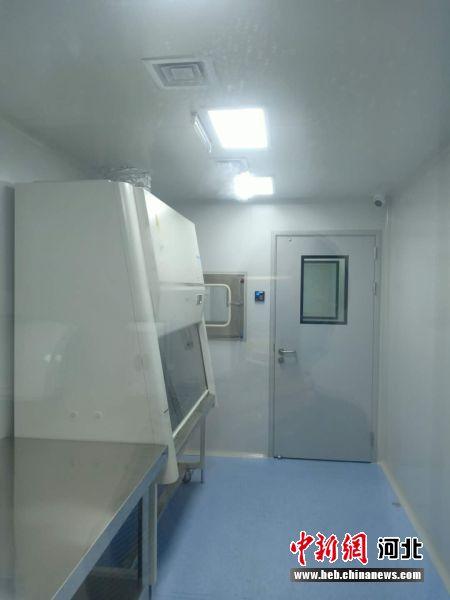 集成式核酸检测实验室室内结构设置。 王金霞 摄