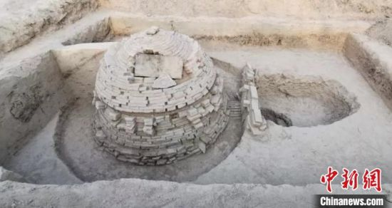 河北省广宗县广宗镇大王村发现的宋代古墓。广宗县文保所供图