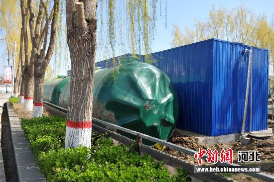图为雄安新区安新县大淀头村污水处理站。