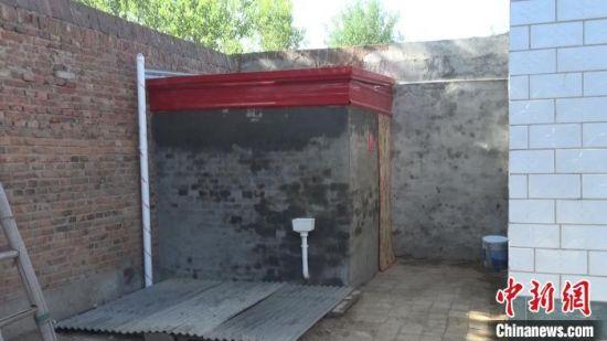 广宗县南寺郭村经过厕改的厕所。 张鹏翔 摄