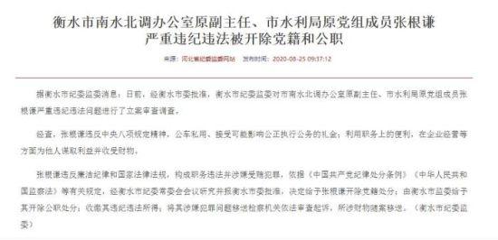 河北省纪委监委官方网站发布